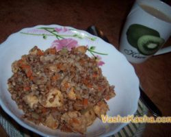 How to cook buckwheat in a pot with chicken