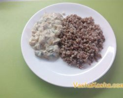 The recipe for buckwheat with porcini mushrooms