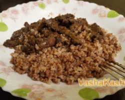 Recipe for cooking buckwheat with liver