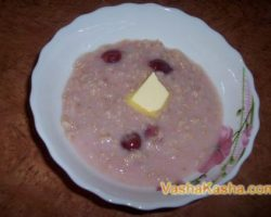 Recipe for making oatmeal porridge on water