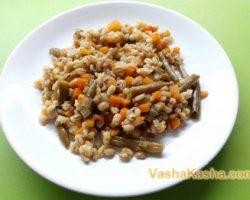 Recipe for making barley with vegetables in a slow cooker