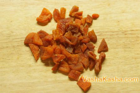 chopped dried apricots