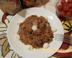 Recipe for cooking buckwheat with meat and mushrooms