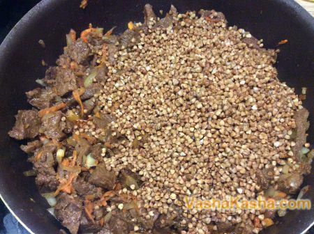 buckwheat with all the ingredients