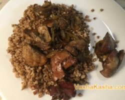 Buckwheat recipe with chicken liver
