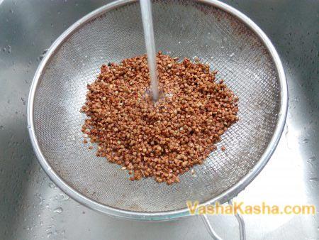 buckwheat on a strainer
