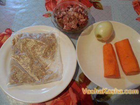 фарш морковь лук перловка