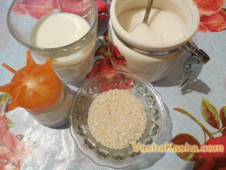 рис молоко сахар