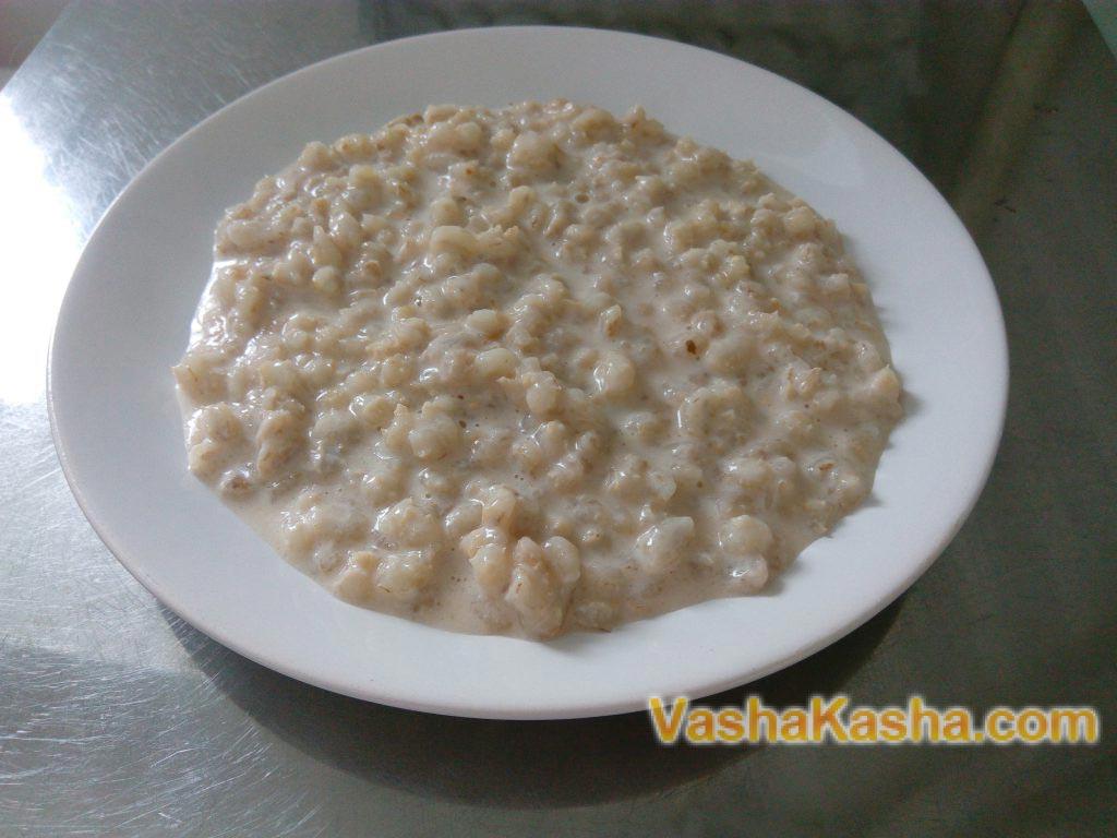 Перловая каша на молоке рецепт с фото