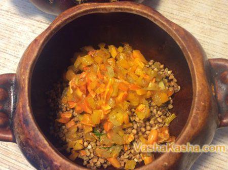 слой из поджаренных овощей