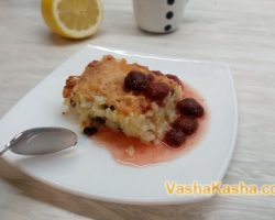 Rice Milk Porridge Casserole Recipe