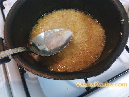 removal of foam from porridge