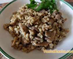 Perlotto with mushrooms