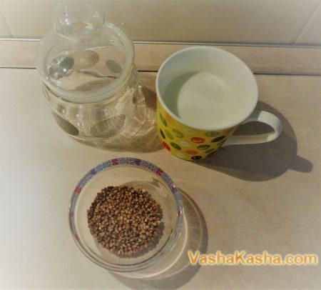 Buckwheat porridge on kefir in a can