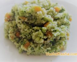 Couscous with broccoli and spinach