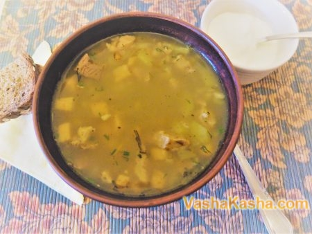 How to cook soup with pearl barley and turnip