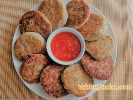 Grechanik with minced meat