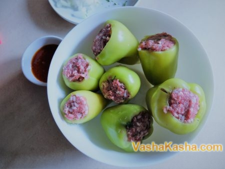 How to cook stuffed peppers in a double boiler