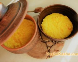 Millet porridge with pumpkin and vanilla