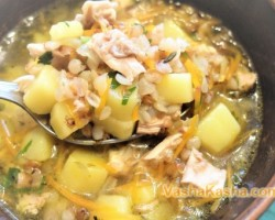 How to cook chicken soup with buckwheat