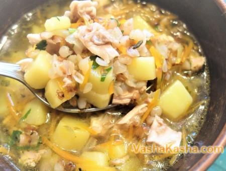 Как приготовить куриный суп с гречкой