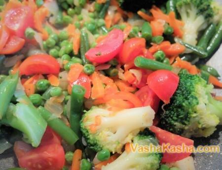 Зеленая гречка с овощами для похудения
